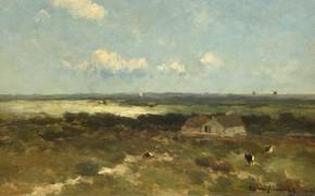 Картинка пейзаж, масло, картина, Дюны, 1896, Иохан Хендрик Вейсенбрух, Johan Hendrik Weissenbruch