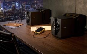 Картинка Sony, High End, Сони, 2020, near-field powered speaker system, настольные колонки, акустические системы, Sony SA-Z1, …