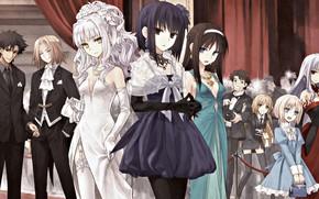 Картинка девушки, персонажи, бал, Судьба ночь схватки, Fate / Stay Night