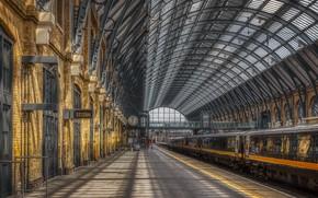 Картинка город, станция, England, Camden, King's Cross