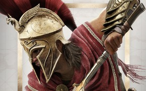 Обои game, Ubisoft, Assassin's Creed, 2018, Odyssey, Assassin's Creed Odyssey, Alexios