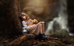 Картинка лес, игрушка, девочка, Carmen Gabaldon