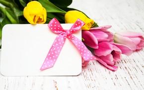 Картинка цветы, букет, тюльпаны, love, розовые, wood, pink, flowers, romantic, tulips