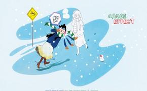 Картинка зима, падение, Kimi ni Todoke, Дотянуться до тебя, Sawako Kuronuma
