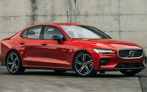 Картинка машина, стена, фары, Volvo, Вольво, сбоку, колёса, R-Design, Volvo S60, Volvo S60 R-Design