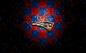 Картинка wallpaper, sport, logo, NFL, glitter, checkered, New England Patriots