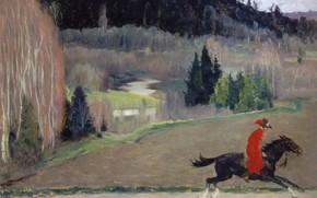 Картинка Нестеров Михаил Васильевич, Гонец, 1920-е