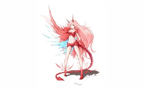 Картинка девушка, аниме, демон, арт, 002, Darling In The Frankxx, Милый во Франксе