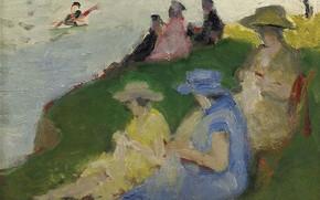 Картинка картина, жанровая, Пьер Эжен Монтезин, Pierre-Eugene Montezin, Молодые Женщины за Вязанием