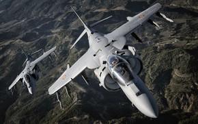 Картинка Штурмовик, Harrier II, Кокпит, McDonnell Douglas AV-8B Harrier II, СВВП, ВВС Испании, Пилом, EAV-8B Matador …