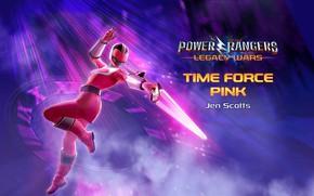 Картинка game, weapon, pink, clock, Power Rangers, Power Rangers: Legacy Wars, Jen Scotts, Time Force