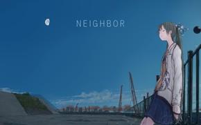 Картинка девушка, Небо, вечер, Hatsune Miku, Vocaloid, Вокалоид, Хатсуне Мику, yuu-rin