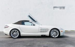 Картинка Roadster, Белый, Дверь, Крыша, 2009, Mercedes-Benz SLR McLaren