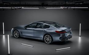 Картинка свет, фон, лампы, купе, BMW, Gran Coupe, 8-Series, 2019, четырёхдверное купе, 8er, G16