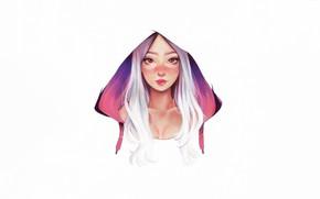 Картинка Girl, Art, Style, Background, Minimalism, Face, Character, Or Yaakov