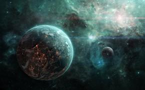 Картинка Stars, Space, Art, Planet, Nebula, cosmicspark, Tim Barton, by Tim Barton, by cosmicspark, Crystal Legacy