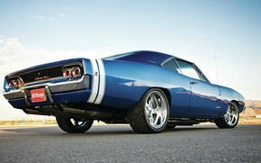 Картинка Dodge, Blue, Coupe, Charger, Muscle car, Hemi, Vehicle, Modified