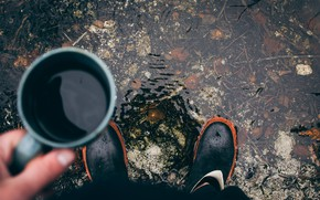 Картинка Autumn, Mood, Boots, Mug