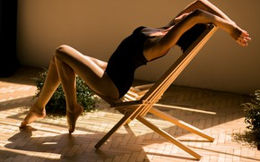 Картинка тень, фигура, стул, тедушка