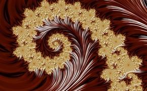Картинка фон, завиток, золотой узор