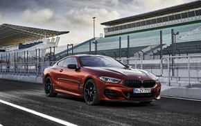 Картинка купе, BMW, стоянка, Coupe, 2018, 8-Series, тёмно-оранжевый, M850i xDrive, 8er, G15