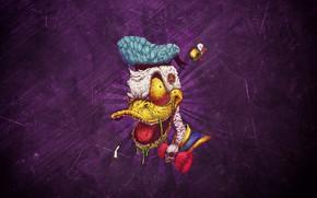 Обои Минимализм, Фон, Утка, Art, Дональд Дак, Donald Duck, Duck, Дональд, Donald, by Bogdan Timchenko, Bogdan ...