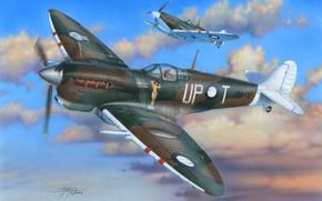 Картинка Spitfire Mk.Vc, Supermrine Spitfire, Spitfire Mk.VC/Trop, Боевой самолёт