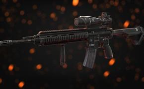 Обои рендеринг, оружие, автомат, gun, weapon, render, Штурмовая винтовка, assault Rifle, HK 416, Heckler & Koch, ...