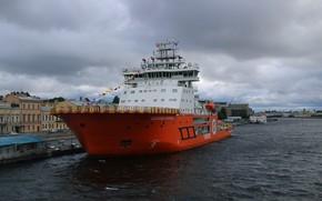 Картинка корабль, ледокол, александр санников