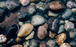 Картинка вода, галька, камни