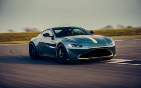 Картинка движение, Aston Martin, купе, трасса, Vantage, МКПП, AMR, 2019, 510 л.с., 4 л., V8 twin-turbo