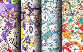 Картинка фон, узор, colorful, геометрия, patterns, seamless, пейсли