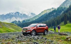Картинка лес, горы, транспорт, автомобиль, Ford Everest