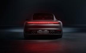 Картинка 911, Porsche, вид сзади, Carrera S, 2019