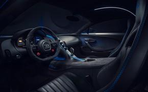 Картинка Bugatti, салон, гиперкар, Chiron, 2020, Pur Sport
