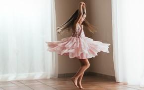 Картинка фон, танец, девочка