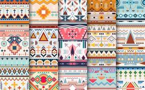 Картинка фон, узор, текстура, орнамент, Abstract, Colorful, Line, pattern, Background, Ornaments, Geometric