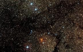 Картинка Stars, Wide Field View, Digitized Sky Survey 2, Star Cluster, Constellation of Ara, Westerlund 1, …