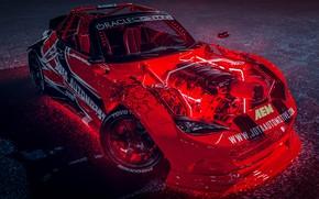 Картинка Красный, Авто, Машина, Тюнинг, Дрифт, Car, Auto, Render, Miata, Рендеринг, MX-5, Mazda MX-5, Transport & …
