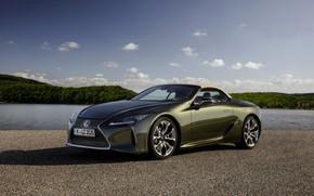 Картинка Lexus, кабриолет, у водоёма, 2021, LC 500 Convertible