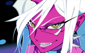 Картинка взгляд, девушка, улыбка, демон, Panty & Stocking with Garterbelt