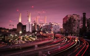 Картинка ночь, Лондон, станция
