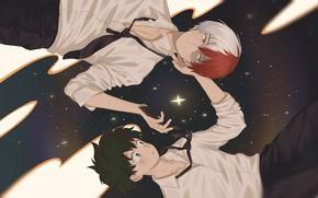 Картинка Boku no Hero Academia, Todoroki Shouto, Midoriya Izuku, TodoDeku, Shikamuro