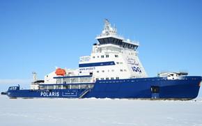Картинка Зима, Океан, Море, Лед, Ледокол, Судно, Техника, Polaris, Offshore, Supply Ship, Icebreaker, M/V Polaris