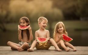 Картинка радость, дети, детство, арбуз, Masha Maas