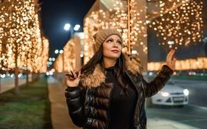 Картинка Winter, brunette, cold, Георгий Дьяков