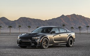 Картинка вечер, Dodge, Charger, AWD, 2019, SpeedKore, SEMA 2019, Twin Turbo Carbon
