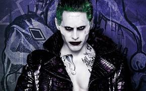Картинка взгляд, макияж, Джокер, Suicide Squad, Отряд Самоубийц