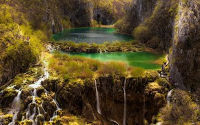 Картинка река, красота, водопады