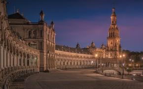 Картинка Spain, Sevilla, Plaza de España, Av de Isabel la Católica